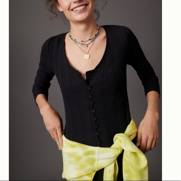 Anthropologie Tops - NWT ribbed vneck cardigan anthro